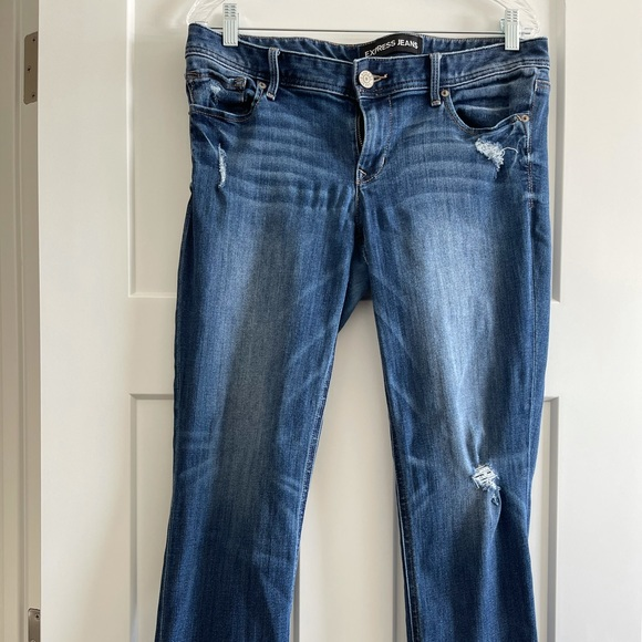 Express Cropped Skinny Ankle Jeans